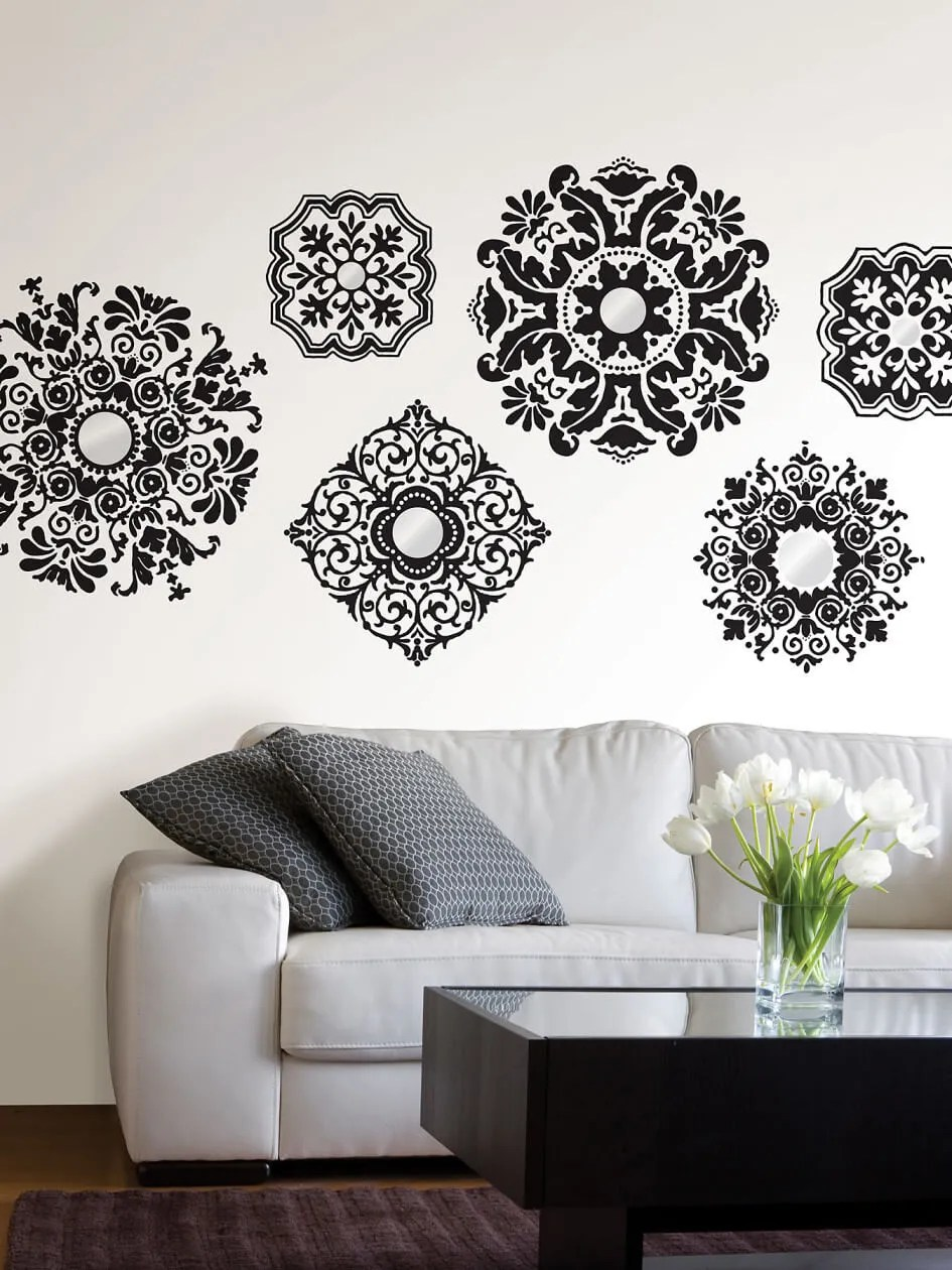 modern wall decal ideas for the living room  https  - tulips in modern living room