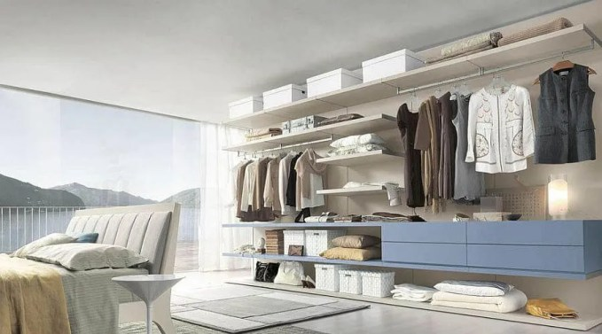 Sleek and Charming Open Closet