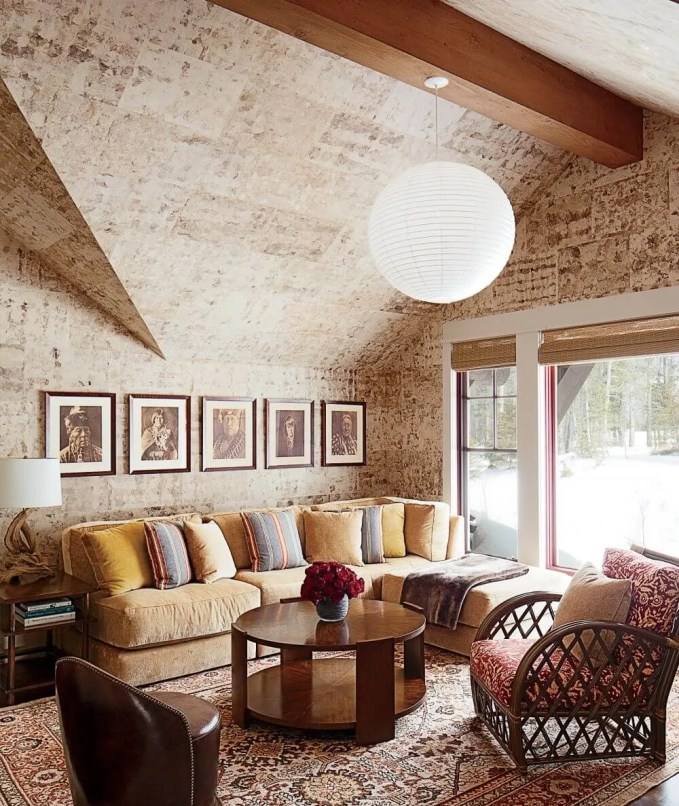 Stone Stacked Ceiling