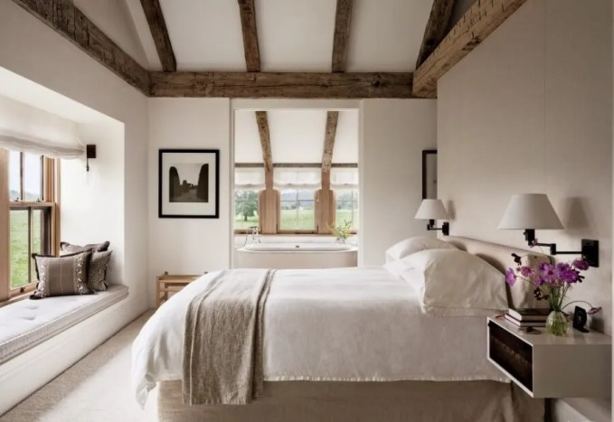 Tall Farmhouse Bedroom