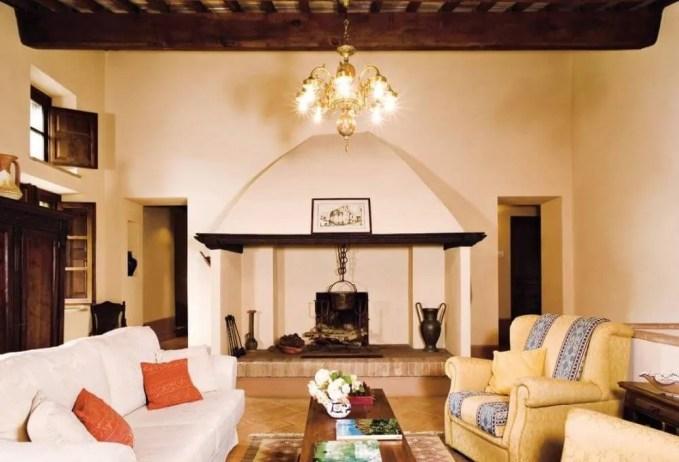 Tall Farmhouse Inspired Living Room