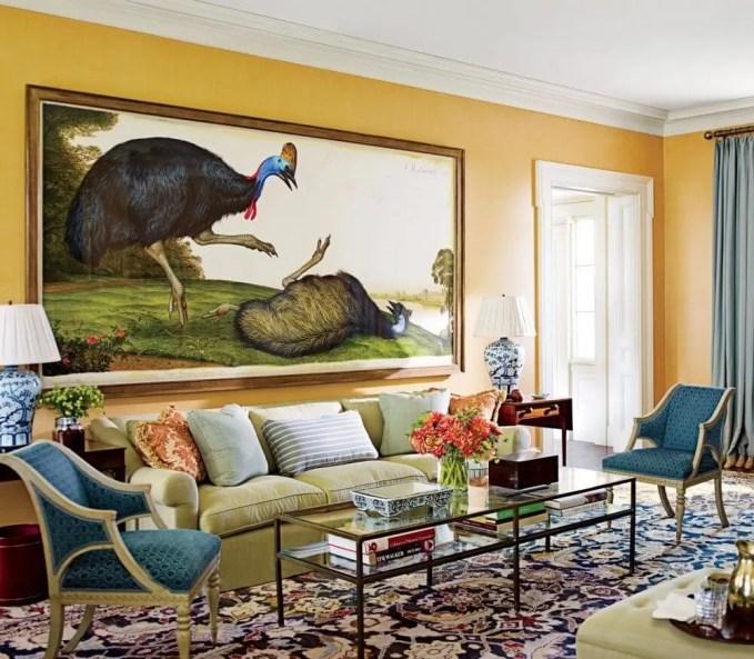 Vivacious Farmhouse Inspired Living Room