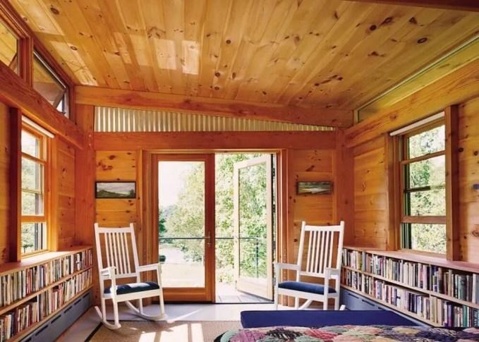 Wood Paneled Rustic Bedroom