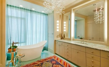 10 Beautiful Bathroom Designs With Glamorous Chandelier