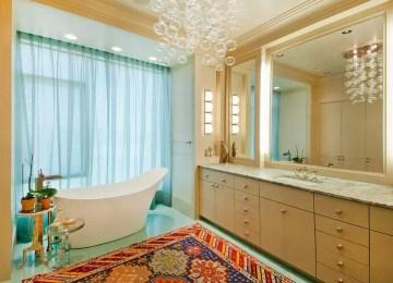 10 Beautiful Bathroom Designs With Glamorous Chandelier