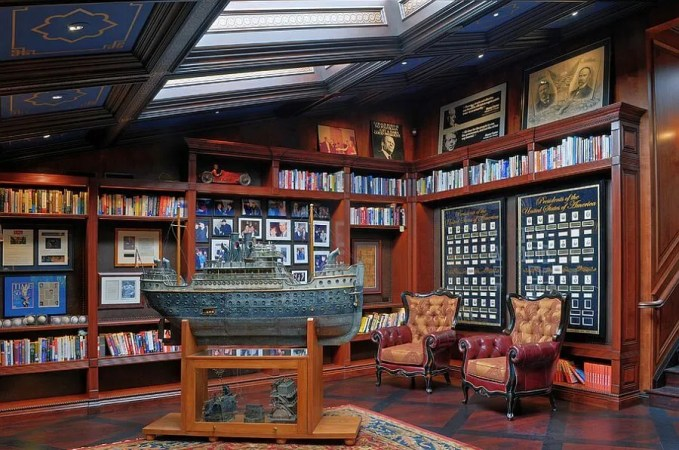 Classic Home Office with Skylughts