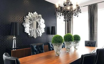 13 Dining Room Designs With Eye Catching Wallpapers