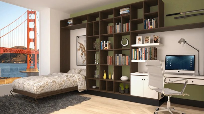 Murphy-Bed-Folded-Down-with-View-of-Golden-Gate-Bridge