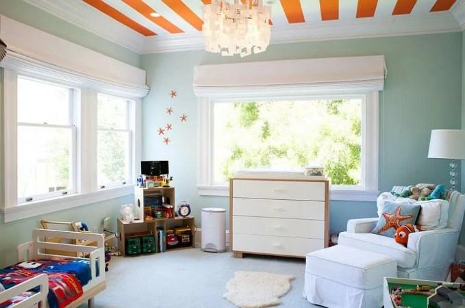 ORange Striped Ceiling