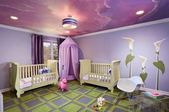 Purple Painted Ceiling