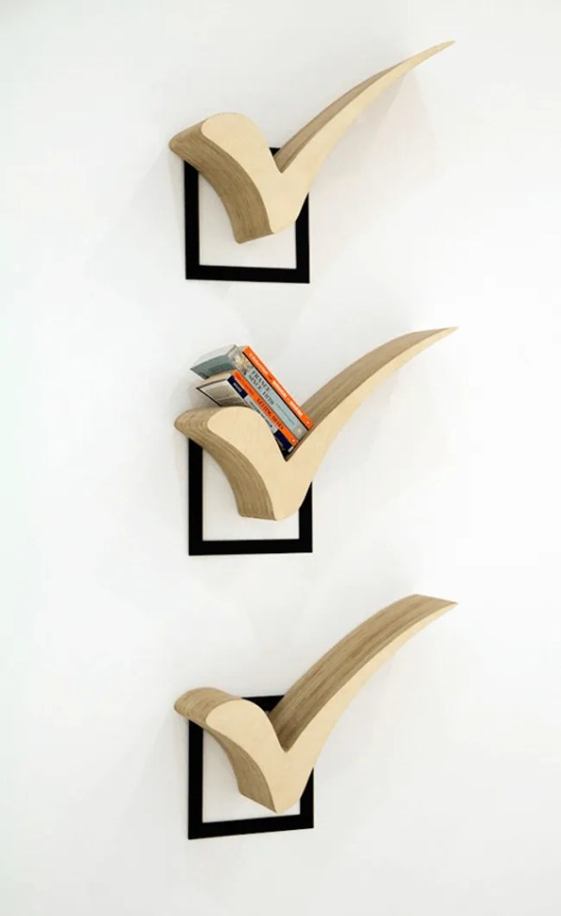 Checked Bookshelf