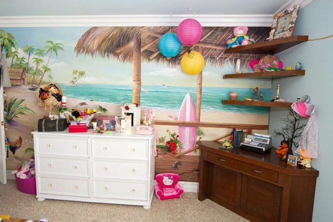 Colorful Tropical Kid's Bedroom