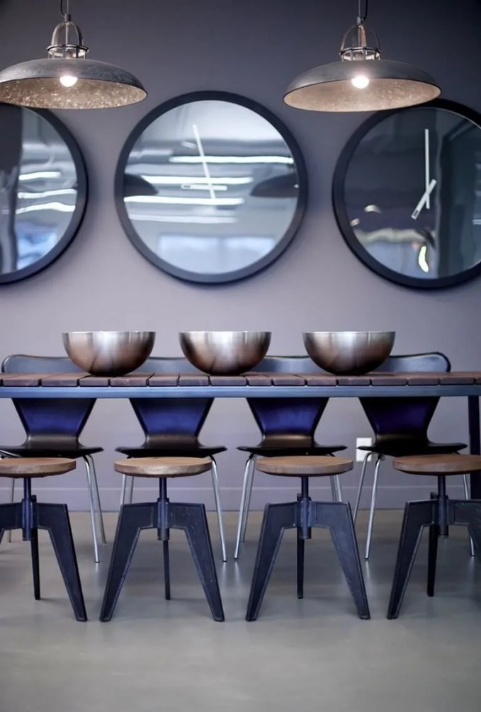 Industrial Backless Dining Stools