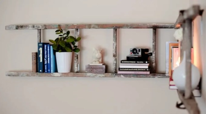 Ladder Used as a Bookshelf