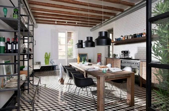 Refreshing Contemporary Industrial Kitchen Design