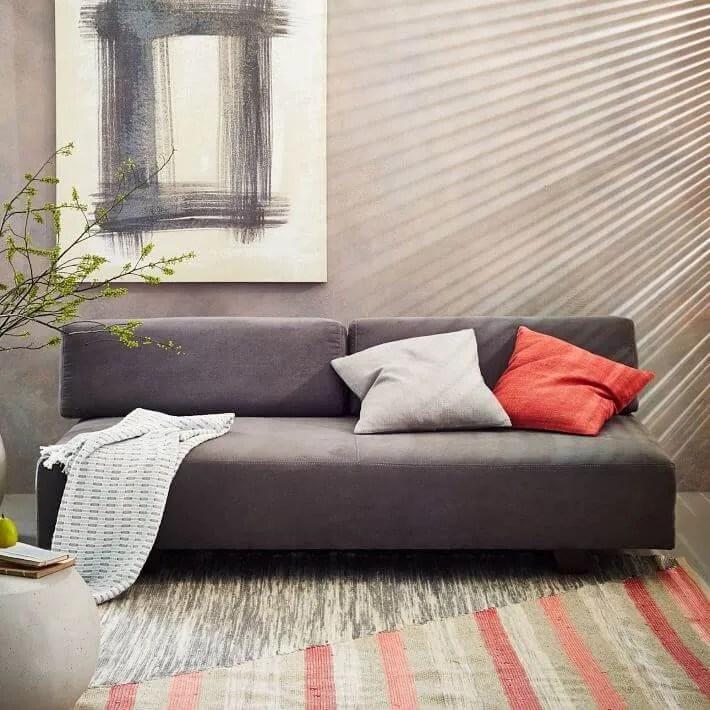 Sleek-grey-sofa-from-West-Elm