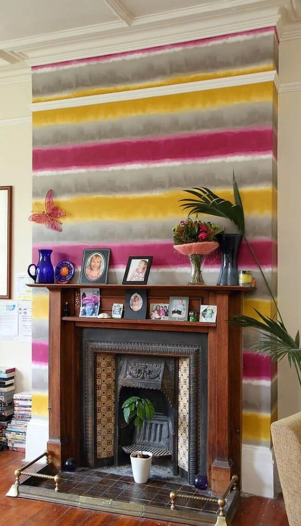 Color Wash Striped Wall
