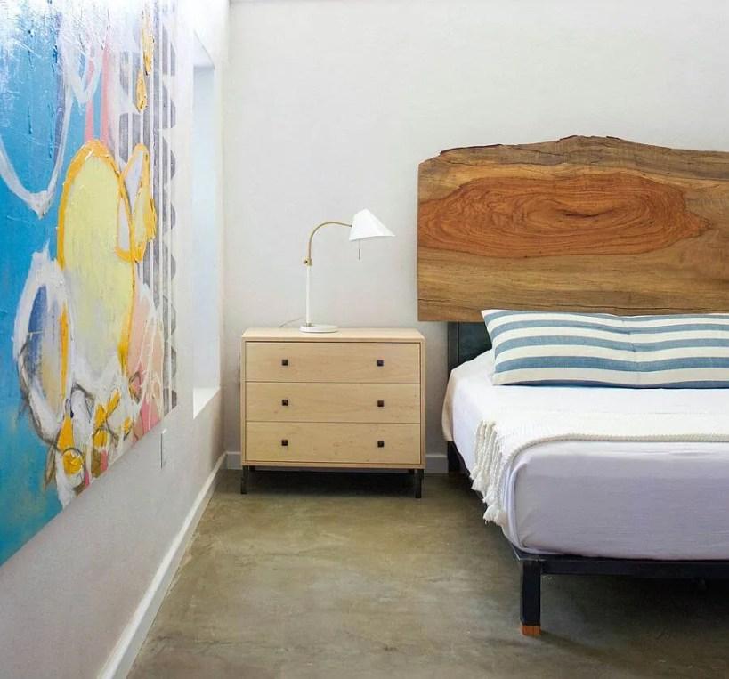 Natural Wood Headboard
