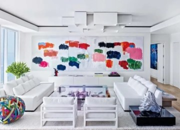 10 Refreshing Summer Living Room Designs With Pops of Color