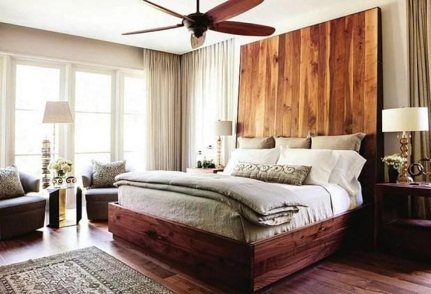 Tall Wooden Headboard