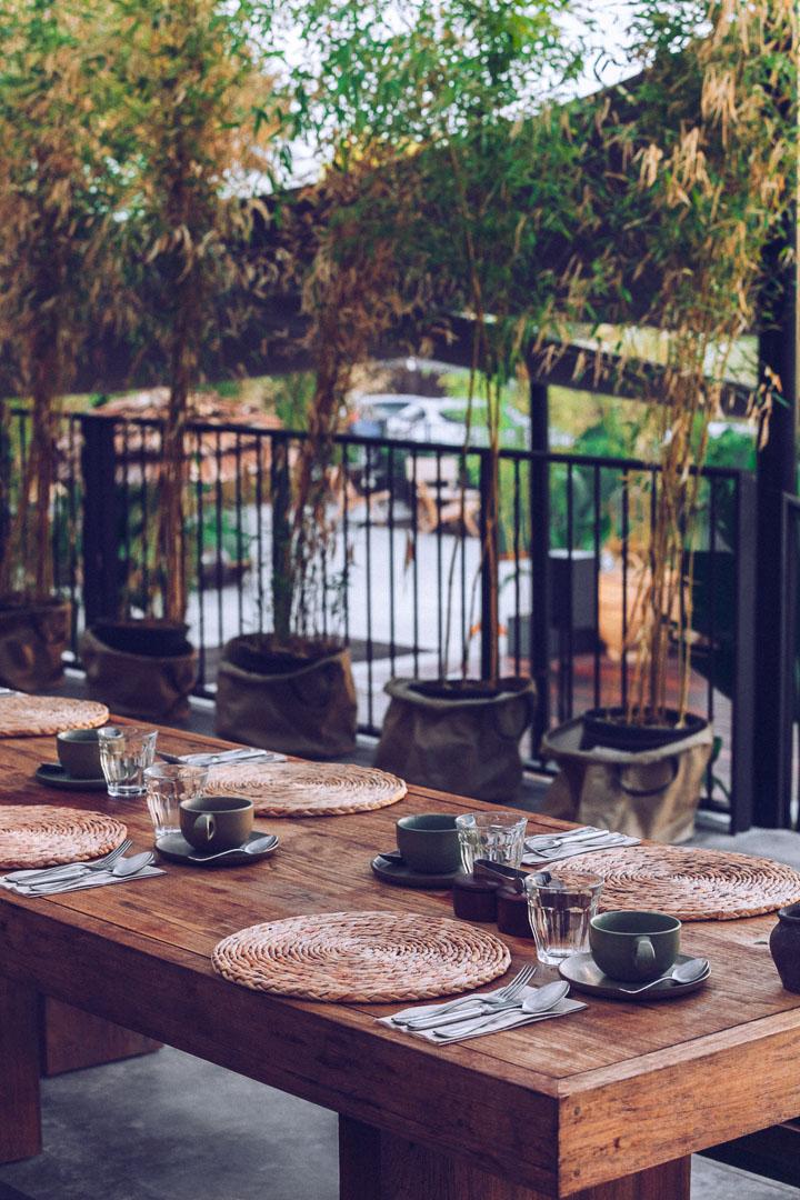 Imagen arquitectura real estate del comedor del restaurante de Casa Cook Ibiza en las Islas Baleares