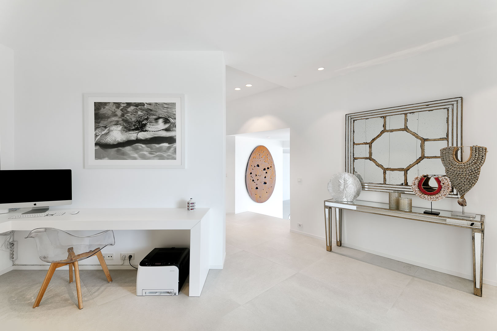 fotografía profesional interior real estate villa privada de recibidor en Ibiza