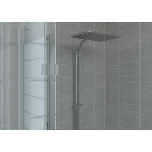 aquabord pvc t g 3 wall shower kit light grey tile effect