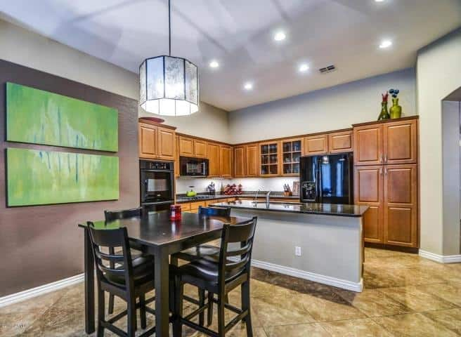 Chandler Home Staging   Chandler  AZ   Interior Preference LLC Breakfast Kitchen Area  Kitchen straight CHANDLER interior design