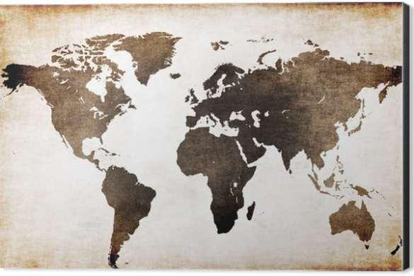 saaie muur op leuken vintage wereldkaart