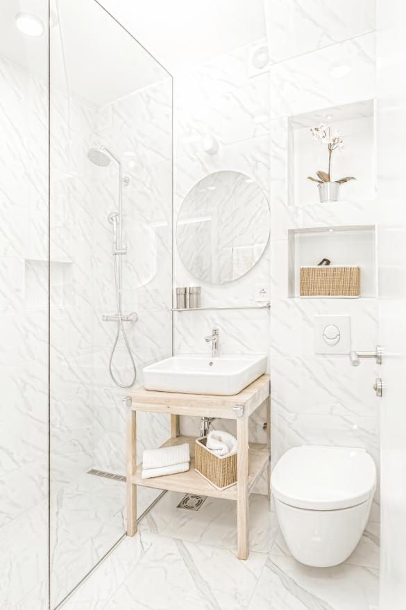 kleine badkamer slim indelen