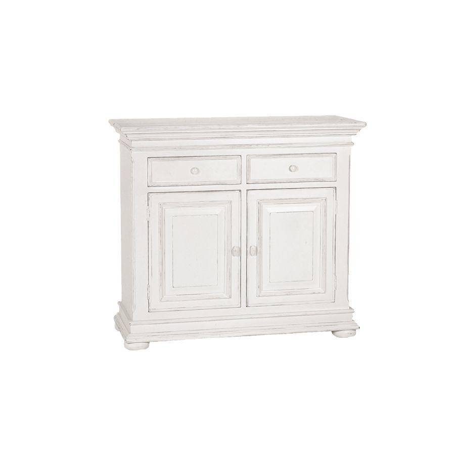 buffet bas blanc 2 portes 2 tiroirs harmonie