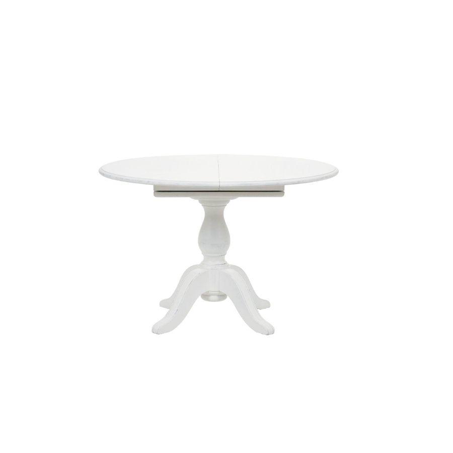 table ronde extensible blanche 6 personnes harmonie