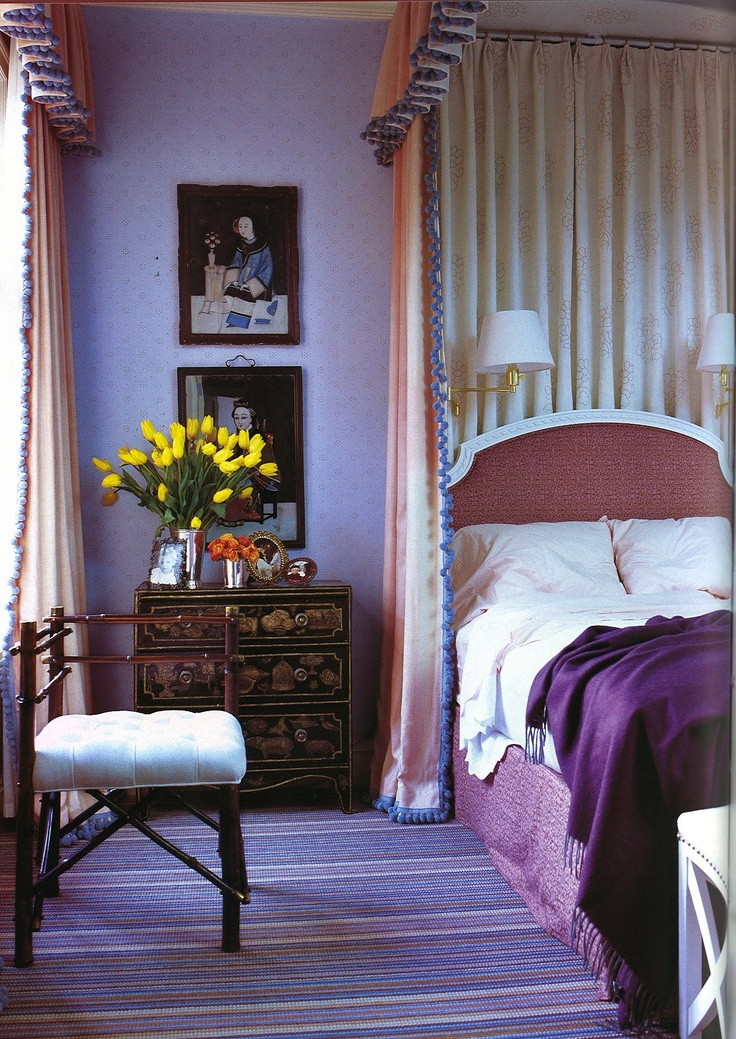 Jeffrey Bilhubers Purple Interiors By Color
