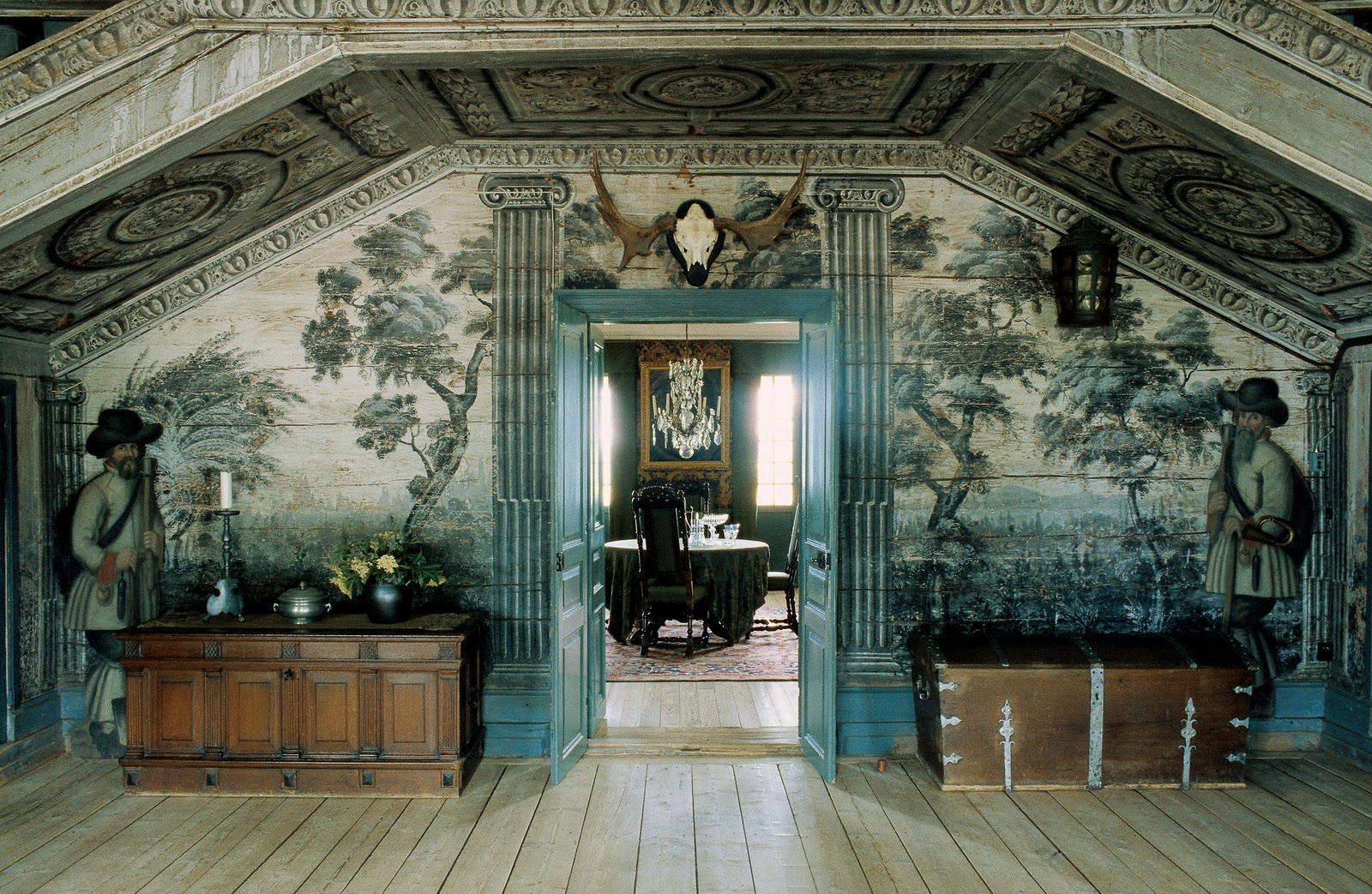 Mural At Sandemar Manor In Sweden Interiors By Color