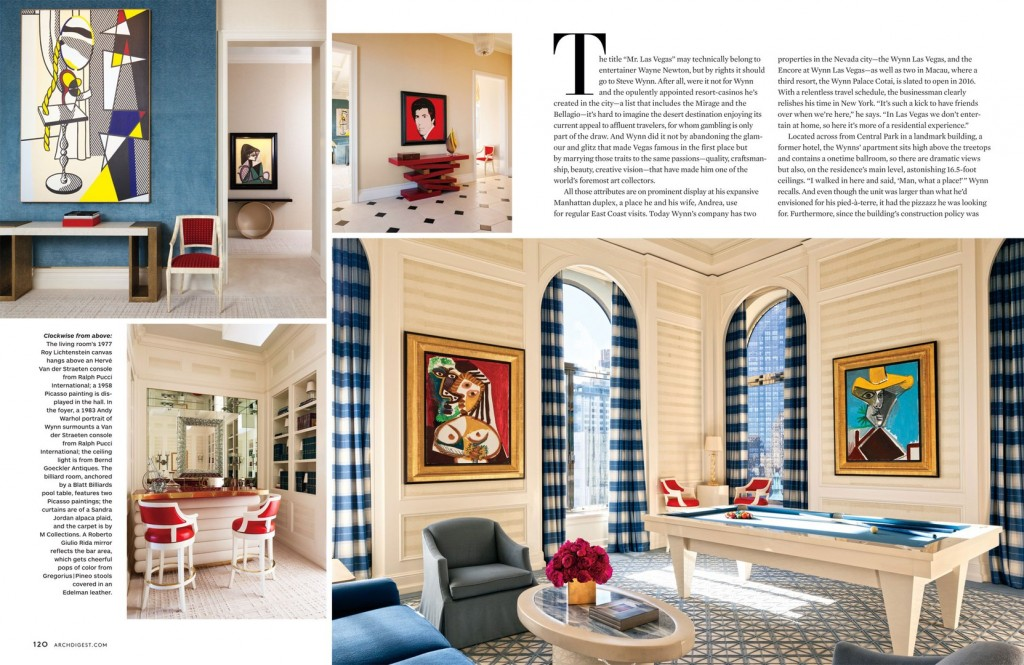 Full House Architectural Digest March 2014 Interiors By Color
