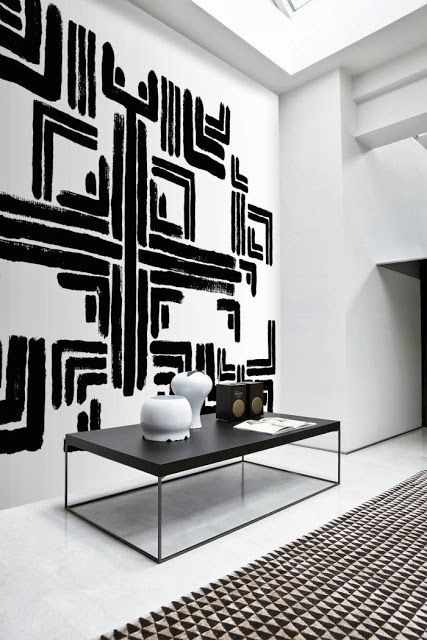 Black White Geometric Art Interiors By Color