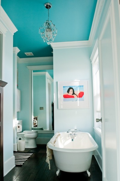 Benjamin Moore Peacock Blue On The Ceiling Interiors By