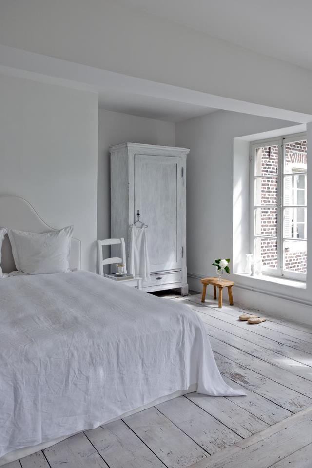 Bedroom Completely White Interiors By Color