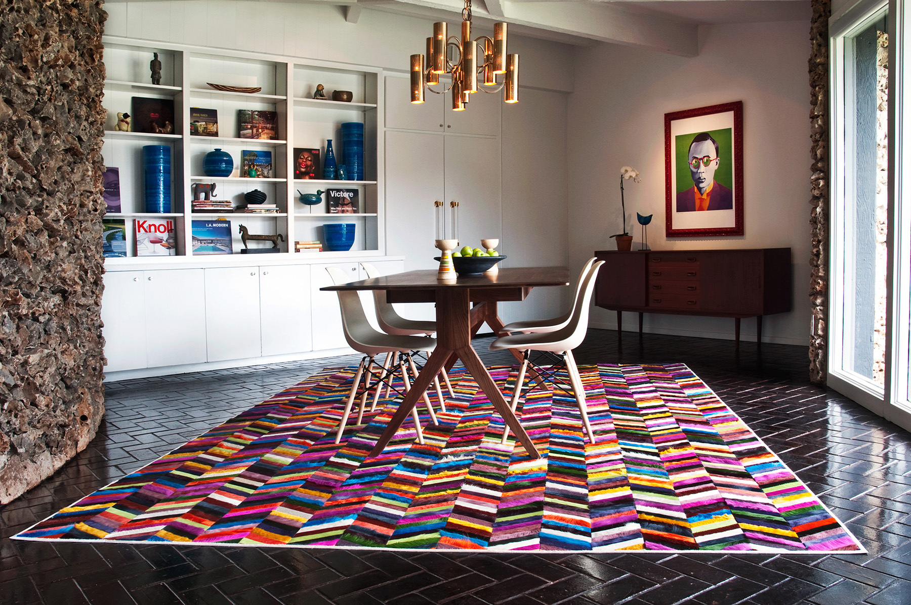 Mr Crowley Chevron Hide Rug Interiors By Color