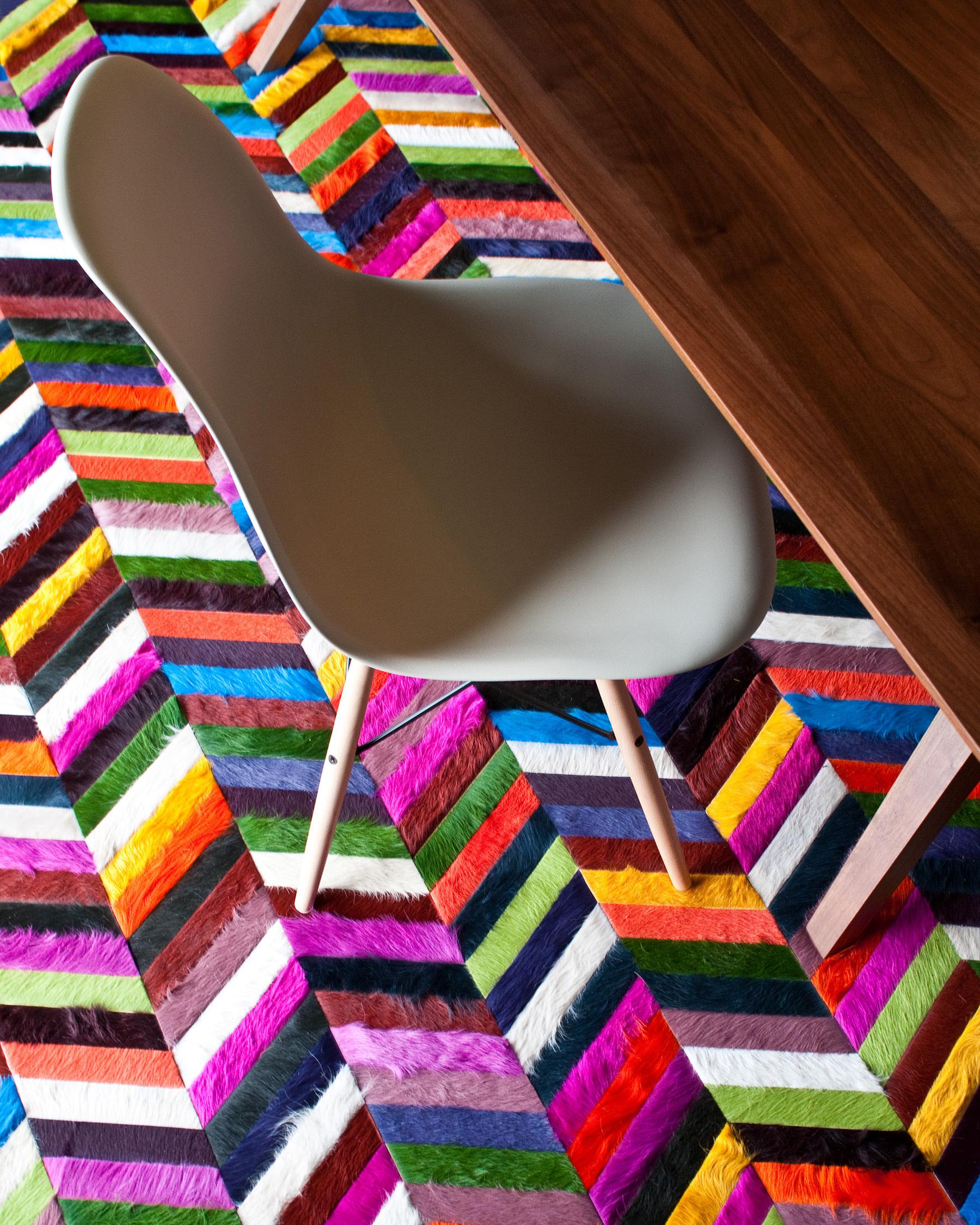 Mr Crowley Chevron Hide Rug Interiors By Color