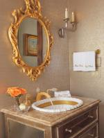 French Inspired Gold Bathroom   Interiors By Color