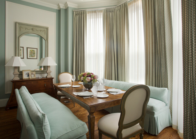 Pale Blue Living Room In A Boston Brownstone Interiors