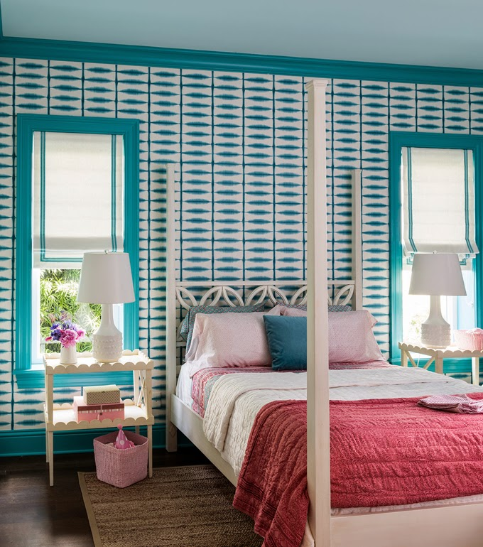 Turquoise Red And Pink Bedrooms Interiors By Color