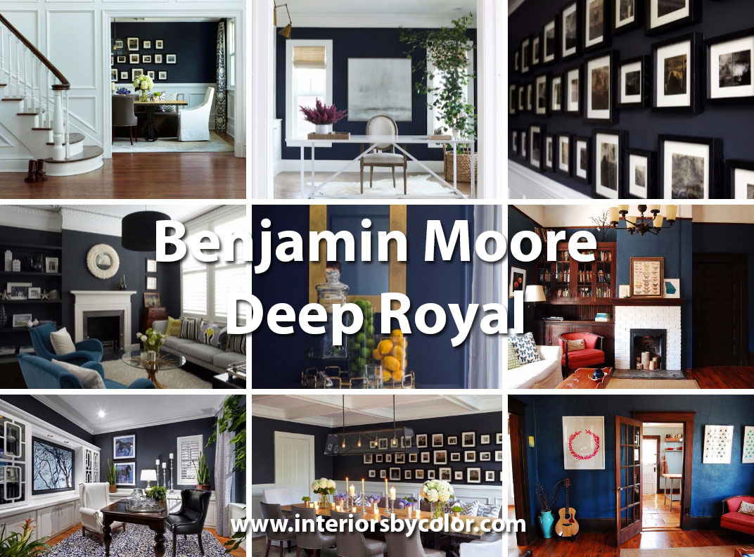 Interiors Painted In Benjamin Moore Deep Royal Blue