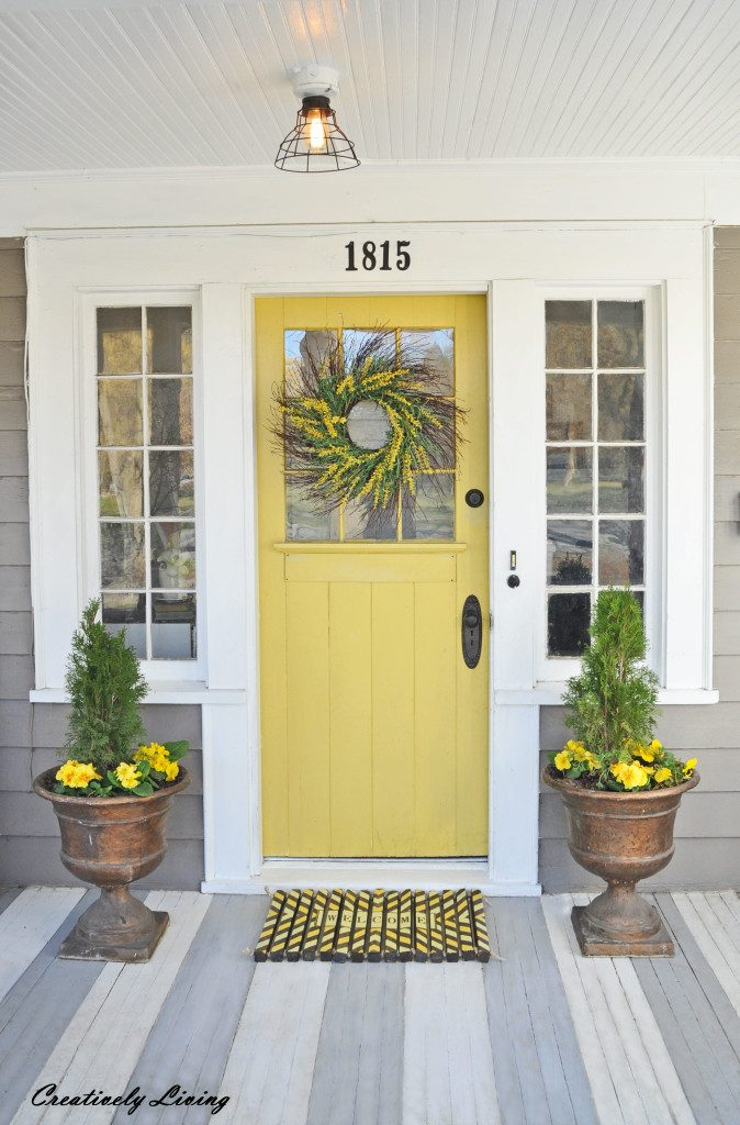 Yellow And Gray Design With Paint For The Exterior Of Your