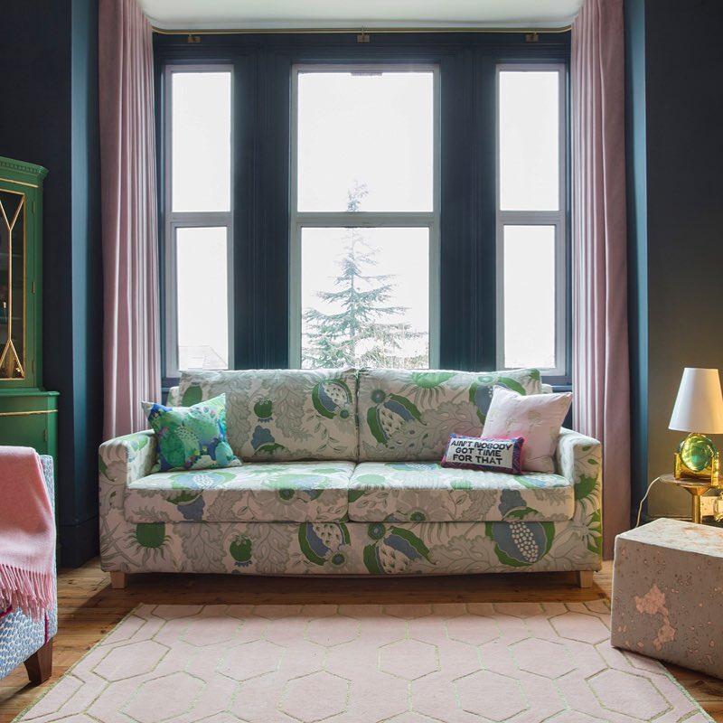 Farrow Amp Ball Hague Blue Living Room Interiors By Color