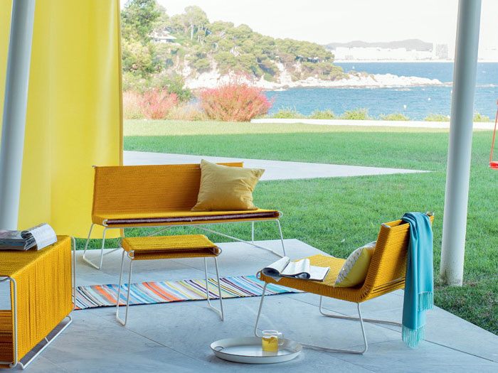 sunny yellow outdoor furniture