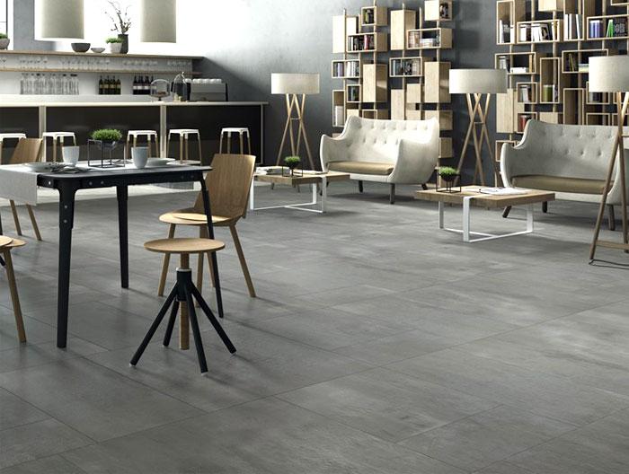 porcelain floor tiles with concrete
