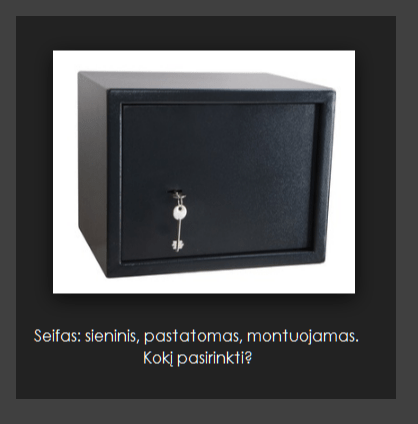 sieninis seifas