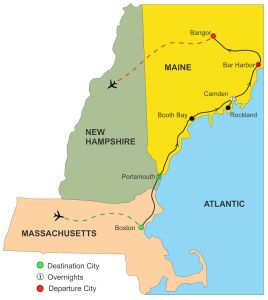 new england guided vacation